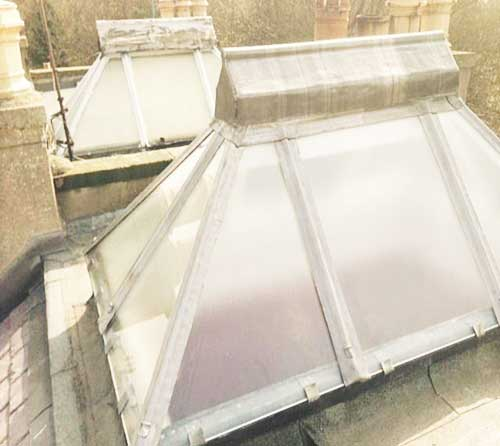 roofing replacement edinburgh skylight lead work detail