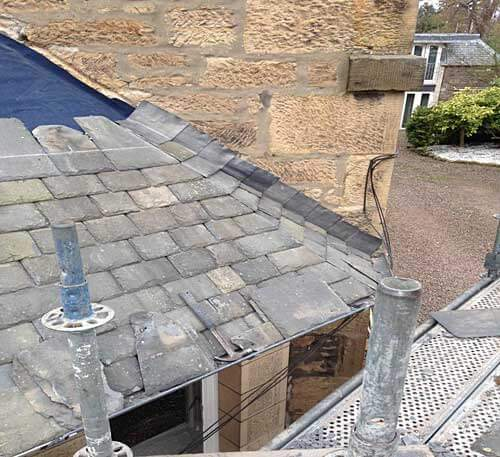 Roofing Repairs Edinburgh Broomieknowe Slate Roof
