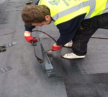 asphalt roof repairs edinburgh heated applied replacement roof